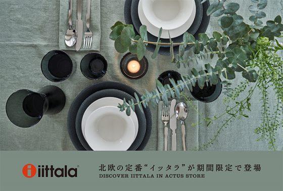 アクタス・豊洲店で「iittala(イッタラ)」のポップアップを開催。